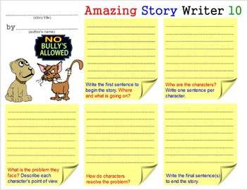 Amazing Story Writer - 1: Teach Creative Writing Skills Templates Worksheets 2-5