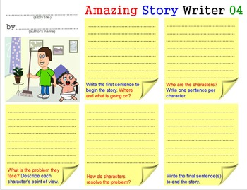 Amazing Story Writer - 2: Teach Creative Writing Skills Templates Worksheets 2-5