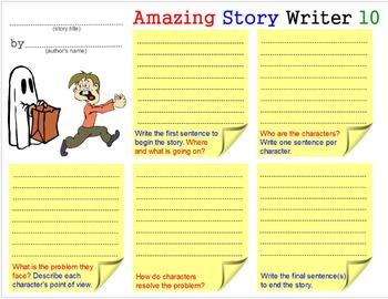 Amazing Story Writer - 2: Teach Creative Writing Skills Templates Worksheets 2-5