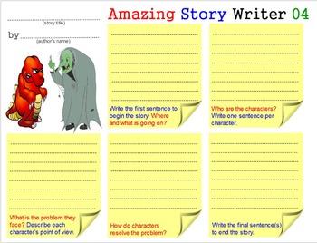 Amazing Story Writer - 3: Teach Creative Writing Skills Templates Worksheets 2-5