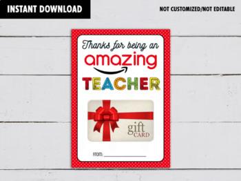 Amazing Teacher Gift Card Holder, Volunteer, Coach, Teacher's Appreciation