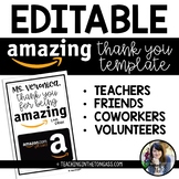 Amazing Thank You Gift Card Template Free