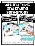 Amazing Topic Sentences and Excellent Ending Sentences BUNDLE!