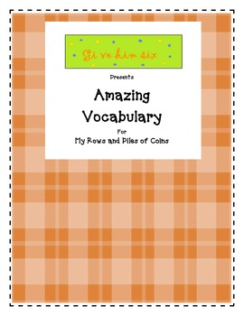 Amazing Vocabulary - My Row and Piles of Coins