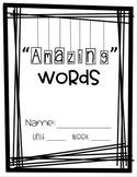 Amazing Vocabulary Word book