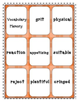 Amazing Vocabulary from Unit 1 of Reading Street - 3rd Grade