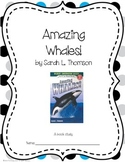 Amazing Whales! Book Study