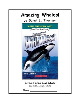 Guided Reading and Writing: Amazing Whales