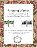 Amazing Women - Women's History Month - Montessori 3-Part Cards