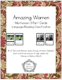 Amazing Women - Women's History Month - Montessori 3-Part Cards