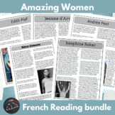 Amazing Women - biography bundle for French learners