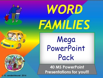 Amazing Word Family Powerpoint Power Pack