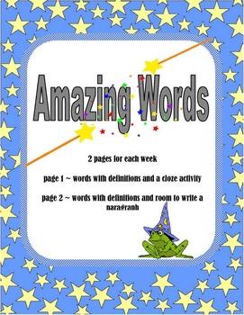 Amazing Word Center Activity Unit 1