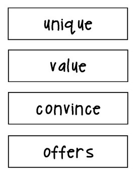 Amazing Words Cards Reading Street 4th Grade Unit 2