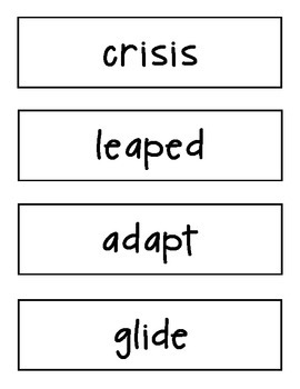 Amazing Words Cards Reading Street 4th Grade Unit 4