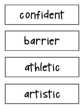 Amazing Words Cards Reading Street 4th Grade Unit 6