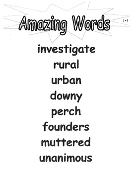 Amazing Words Posters - 2nd grade reading street pearson