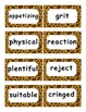 Reading Street Amazing Words Unit 1-Grade 3 (Giraffe Print)