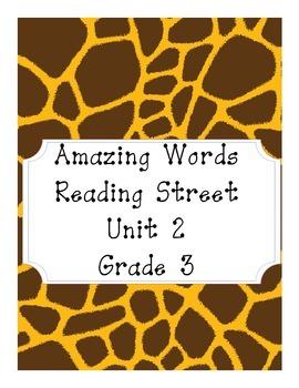Reading Street Amazing Words Unit 2-Grade 3 (Giraffe Print)