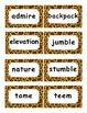 Reading Street Amazing Words Unit 3-Grade 3 (Giraffe Print)