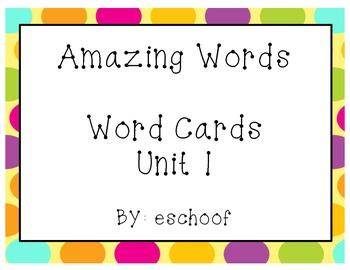 Amazing Words Unit 1 Reading Street