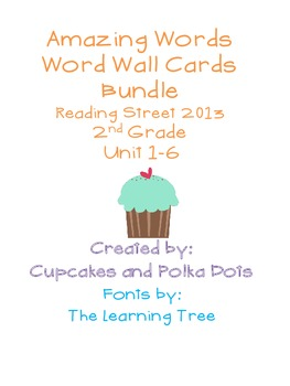 Amazing Words- Word Wall Cards BUNDLE Reading Street