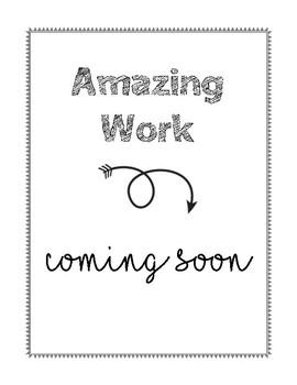 Amazing Work Bulletin Board