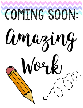 Amazing Work Coming Soon Poster