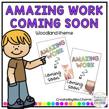 Amazing Work Coming Soon (Woodland Theme) FREEBIE