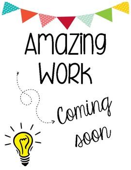 Amazing Work Coming Soon PDF