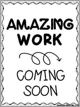 Amazing Work Coming Soon Printable Display