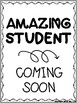Amazing Work Coming Soon Printable Display