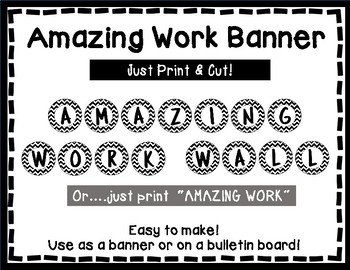 Amazing Work Wall - Bulletin Board - Black & White Style
