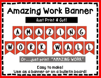 Amazing Work Wall - Bulletin Board - Red Style
