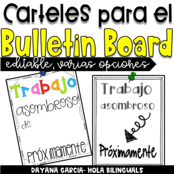 Amazing work signs- SPANISH {EDITABLE}