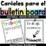 Amazing work signs- SPANISH {EDITABLE}