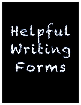 Amazingly Helpful Writing Forms