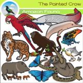Amazon Rainforest Animals Clip Art Set