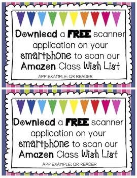 Amazon Class Wish List