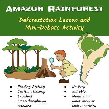 Amazon Rainforest Deforestation Lesson and Mini-Debate Activity