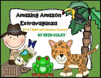Amazon Rainforest Extravaganza (24 Math & Literacy Centers