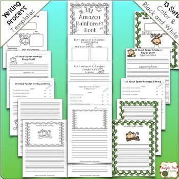 Amazon Rainforest Animals {CCSS Informative Writing + Craft Projects}