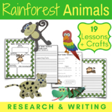 Amazon Rainforest Animals Research, Writing, and Craft Projects