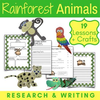 Amazon Rainforest Animals {CCSS Informative Writing + Craf