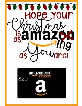 graphic regarding Amazon Gift Card Printable named Amazon reward card tag/card - Incredible xmas