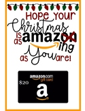Amazon gift card tag/card - Amazing christmas