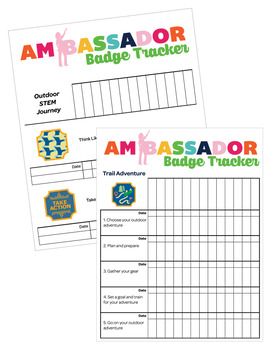 Ambassador Girl Scouts Inspired Troop Badge Requirement Tracker [.doc]