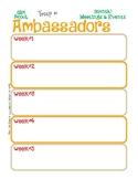 Ambassador Monthly Activity Calendar Girl Scouts Editable
