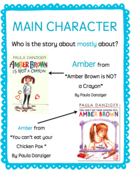 Amber Brown Character Study (Bulletin Board Cards)