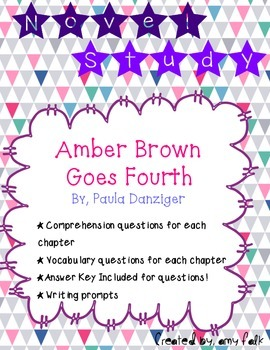 Amber Brown Goes Fourth: Novel Study
